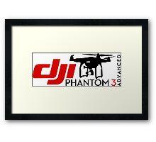 DJI Phantom 3 Advance Pilot UAV Drone white Framed Print