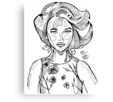 Sketch fashion portrait by MrN Canvas Print