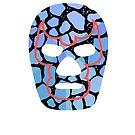 Mexican Wrestler Mask Lucha libre by Edward Fielding