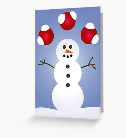 H2O Snowman Greeting Card