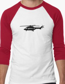 Helicopter pilot Men's Baseball ¾ T-Shirt