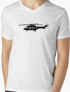 Helicopter pilot Mens V-Neck T-Shirt