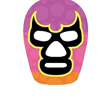 Mexican Wrestler Mask Lucha libre 2 by Edward Fielding