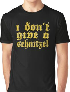 Funny I Don't Give A Schnitzel Wordplay Graphic T-Shirt