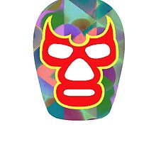 Mexican Wrestler Mask Lucha libre 3 by Edward Fielding