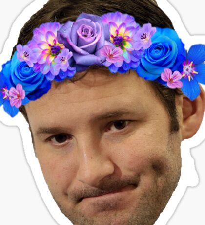 Flower Crown Tony Romo Sticker