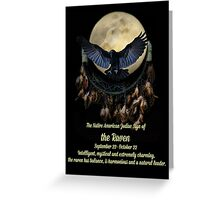 Native American Zodiac Sign of the Raven Libra Greeting Card