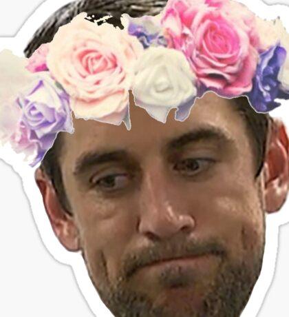 Flower Crown Aaron Rodgers 2.0 Sticker