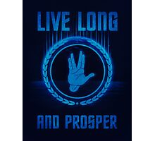 Live Long and Prosper - Spock's hand - Leonard Nimoy Geek Tribut Photographic Print
