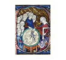 Medieval Woman Mathematician Art Print