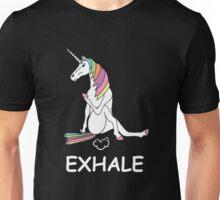 EXHALE UNICORN T-SHIRT Unisex T-Shirt
