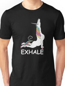 EXHALE FUNNY T-SHIRT Unisex T-Shirt