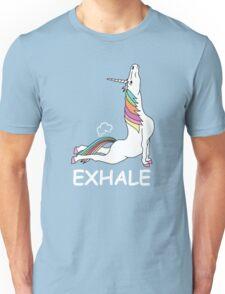 EXHALE FUNNY T-SHIRT Unisex T-Shirt