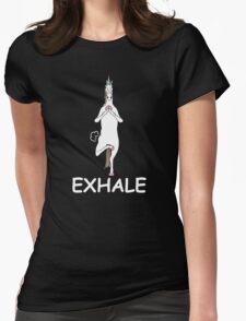UNICORN EXHALE FUNNY TRENDING T-SHIRT Womens Fitted T-Shirt