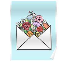HIPSTER LOVE / FLOWERS LETTER Poster