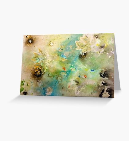 Earth Serenity 'Rain Painting' Greeting Card