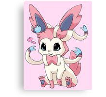 Cutesy Sylveon Pokemon Canvas Print