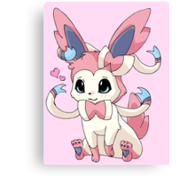 Cutesy Sylveon Pokemon Canvas Print