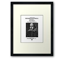 Shakespeare First Folio Frontpiece - Simple Black Version Framed Print