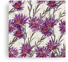 """Purple Drama"" Bold Purple Flower Pattern Canvas Print"