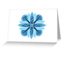Blue Abstract Flower Greeting Card