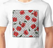 Red roses and polka dots nº4 Unisex T-Shirt