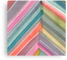 Watercolor Chevron Canvas Print