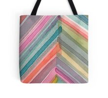 Watercolor Chevron Tote Bag