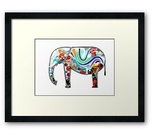 Abstract Elephant Framed Print