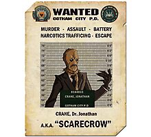 Scarecrow - Gotham's Most Wanted Photographic Print