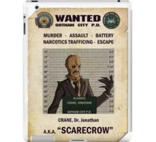 Scarecrow - Gotham's Most Wanted iPad Case/Skin