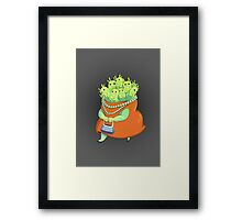 Undercover Monster Framed Print