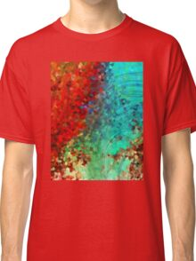 Colorful Abstract Art - Rejoice - Sharon Cummings Classic T-Shirt