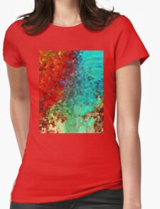 Colorful Abstract Art - Rejoice - Sharon Cummings Womens Fitted T-Shirt