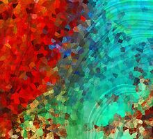 Colorful Abstract Art - Rejoice - Sharon Cummings by Sharon Cummings