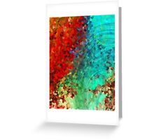 Colorful Abstract Art - Rejoice - Sharon Cummings Greeting Card