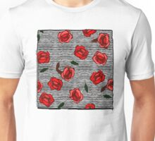 Red roses and stripes nº2 Unisex T-Shirt