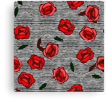 Red roses and stripes nº2 Canvas Print