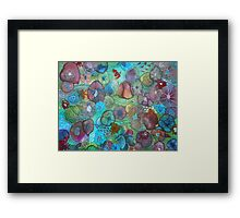 The Maliha - Floral Montage Printed from Original Mixed Media Art Framed Print