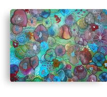 The Maliha - Floral Montage Printed from Original Mixed Media Art Canvas Print