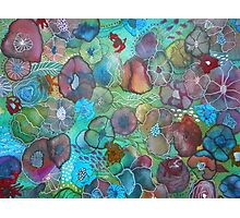 The Maliha - Floral Montage Printed from Original Mixed Media Art Photographic Print