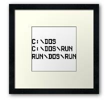 RUN DOS RUN Framed Print