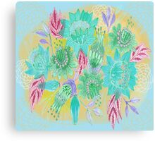 Flower Spray  Canvas Print