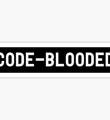 Code Blooded Sticker