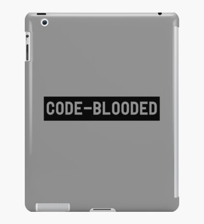 Code Blooded iPad Case/Skin