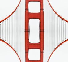 Minimalistic Golden Gate Bridge Sticker