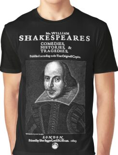 Shakespeare First Folio Frontpiece - Simple White Version Graphic T-Shirt