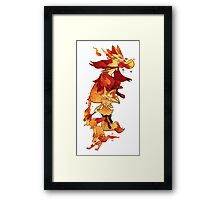 firefoxes Framed Print