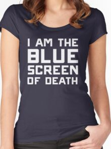 I am the blue screen of death Women's Fitted Scoop T-Shirt