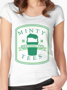 Minty Tees Brewing Co. Women's Fitted Scoop T-Shirt